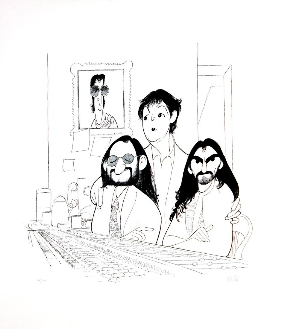 Al Hirschfeld - The Beatles