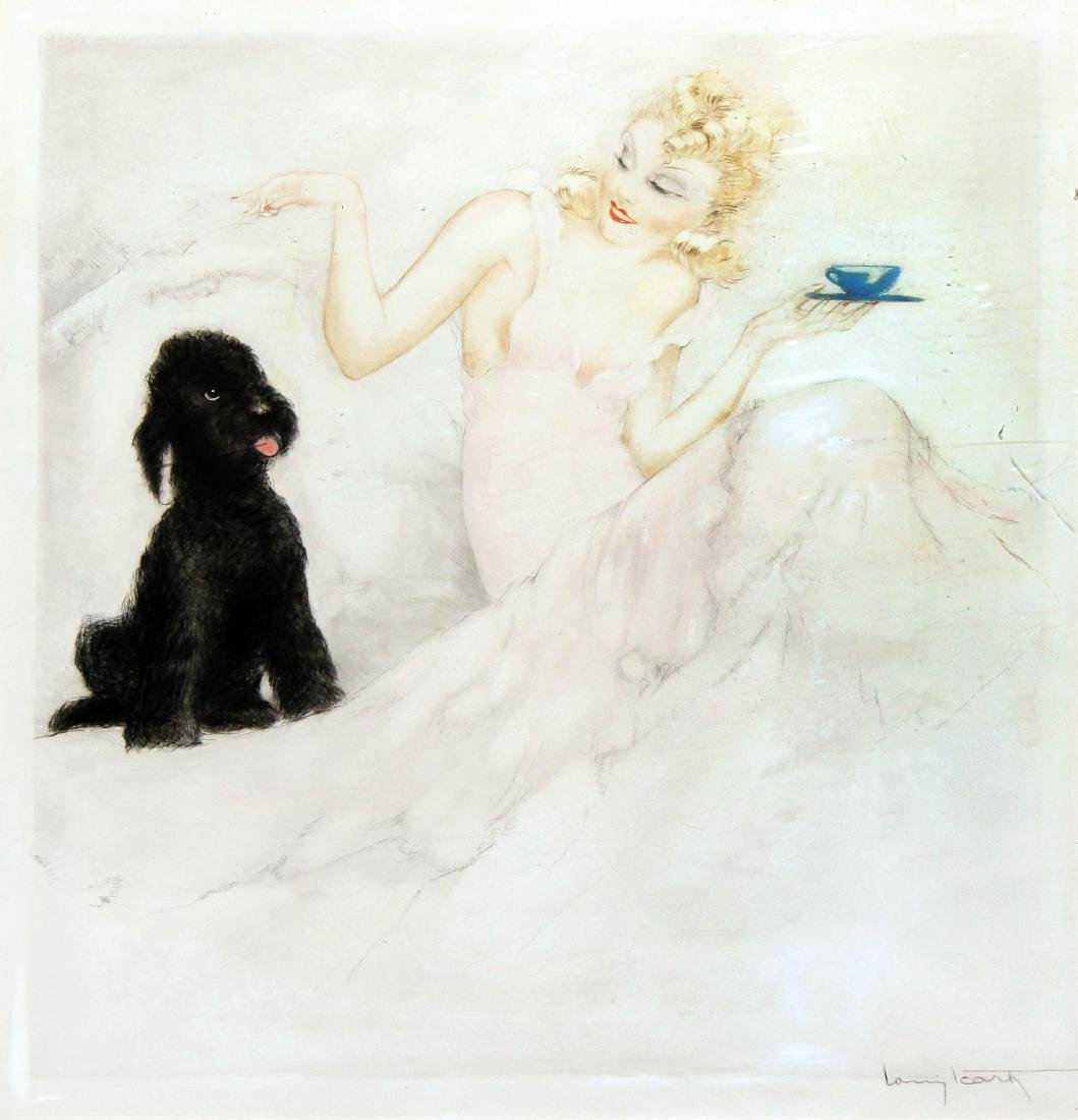 Louis Icart  - Morning Cup