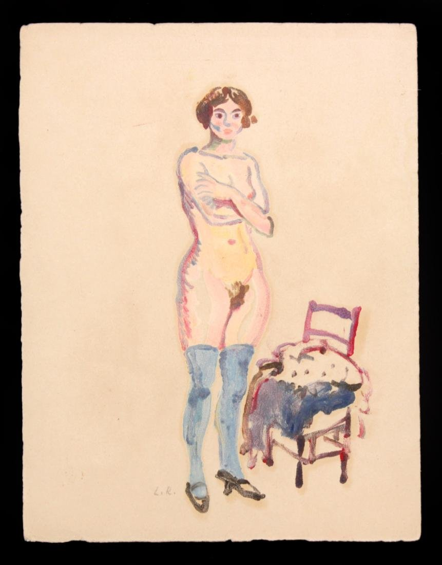 Ludovic-Rodo Pissarro - Nude Woman with Chair