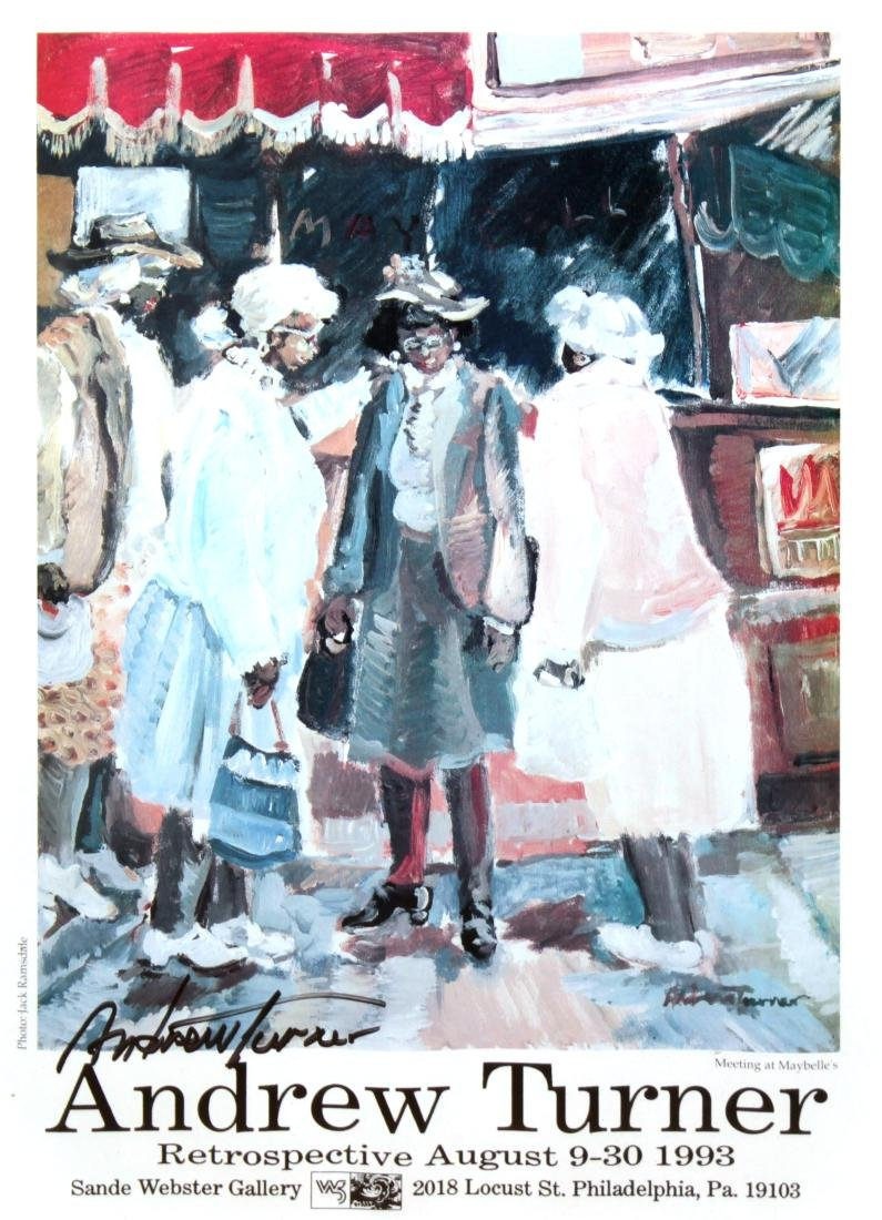 Andrew Turner - Retrospective Hand Signed Poster