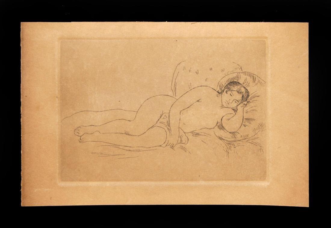 Pierre-Auguste Renoir - Femme Nue Couchée Tournée