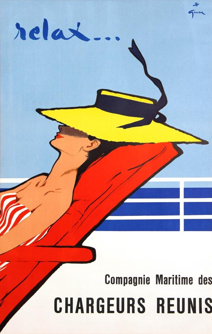 Rene Gruau - Relax Vintage Poster 1960s