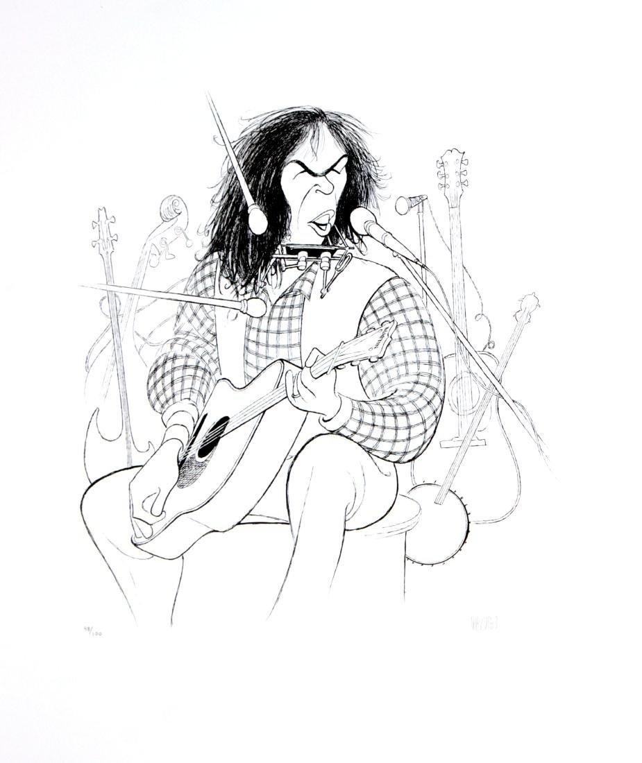 Al Hirschfeld - Neil Young
