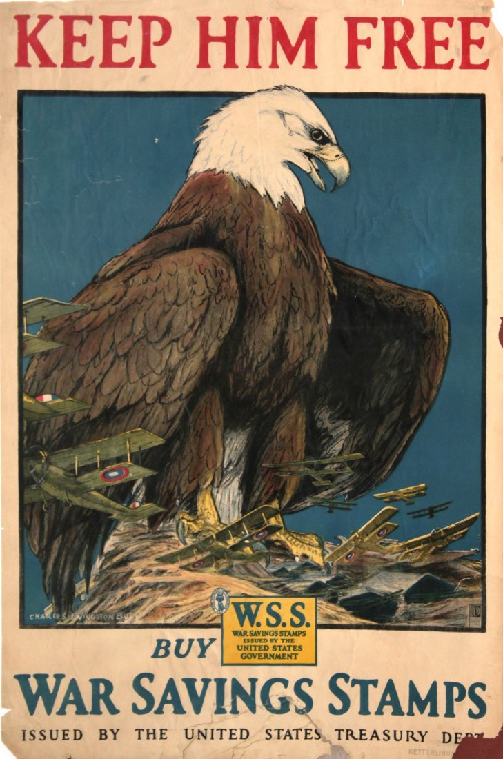 Vinage 1917 War Posters - Eight World War I Propaganda