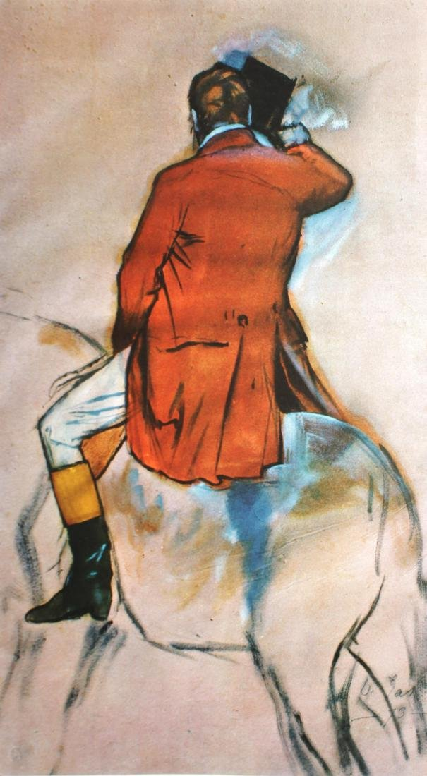 Edgar Degas (After) - Rider in a Red Coat