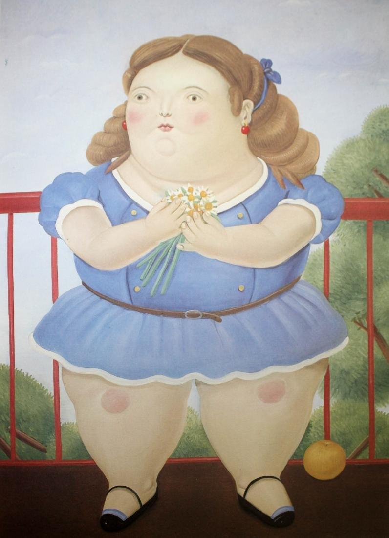 Fernando Botero  - Girl on a Balcony
