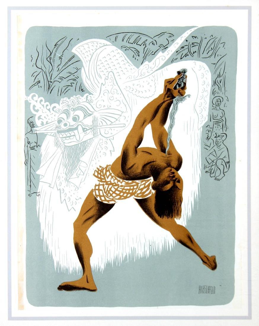 Al Hirschfeld - Kris Dancer Bali