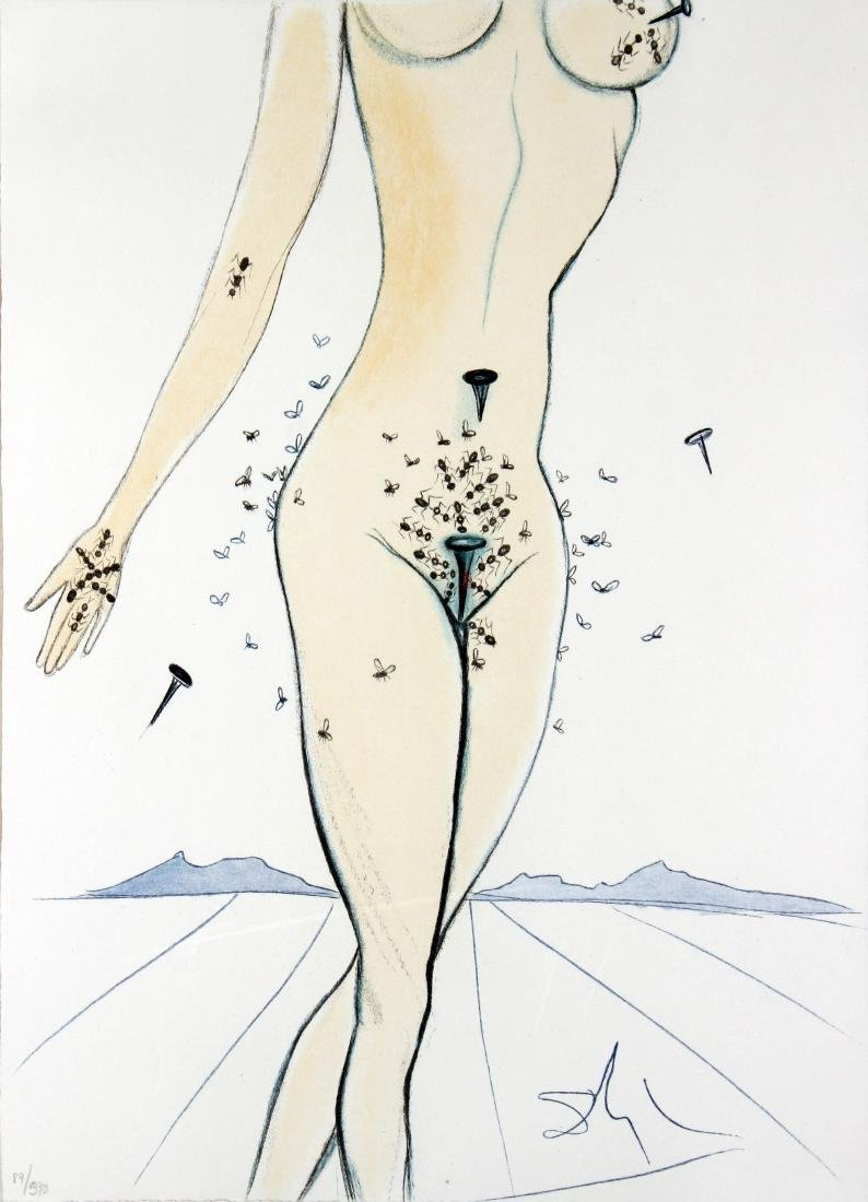 Salvador Dali - Ants Nails & Flies on Nude