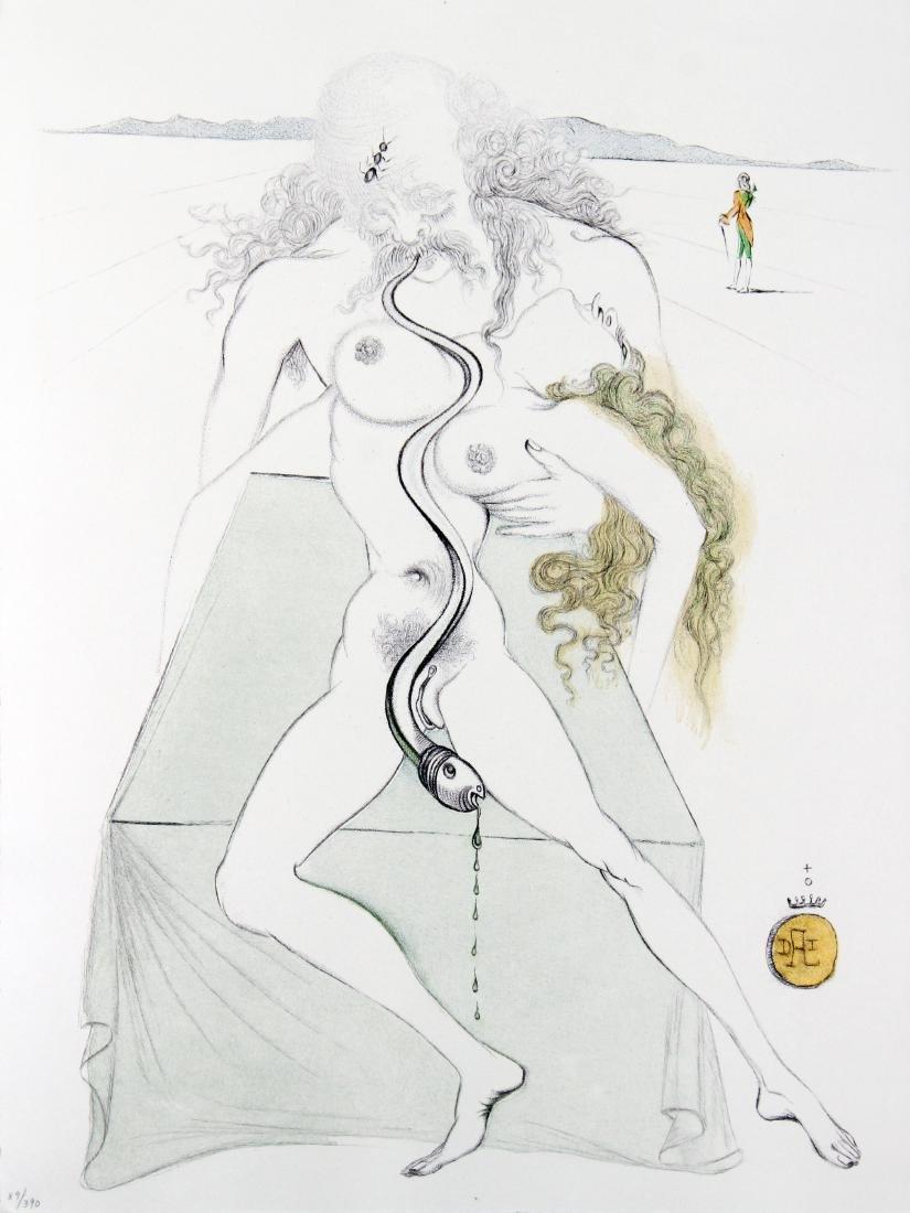 Salvador Dali - Nude Couple Large Serpent