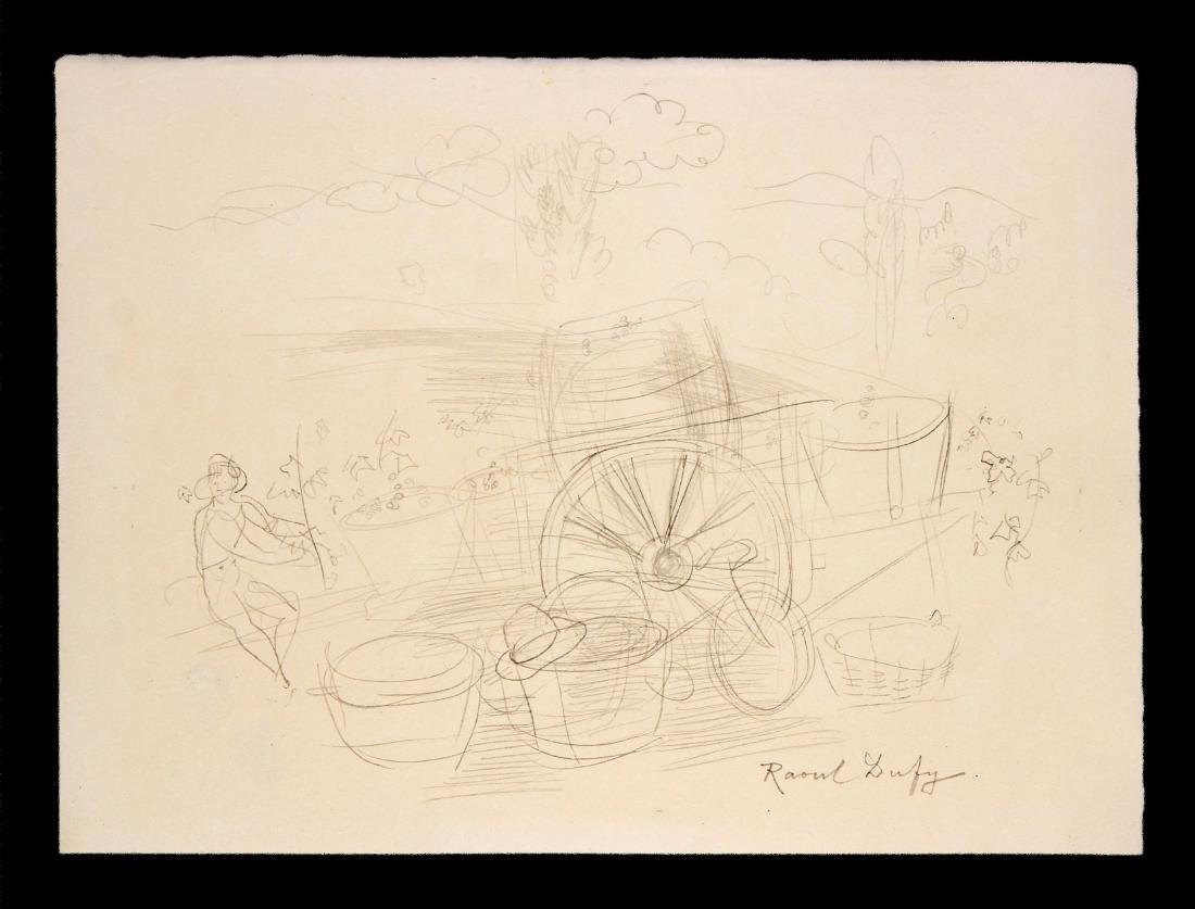 Raoul Duffy - Unique Graphite Drawing