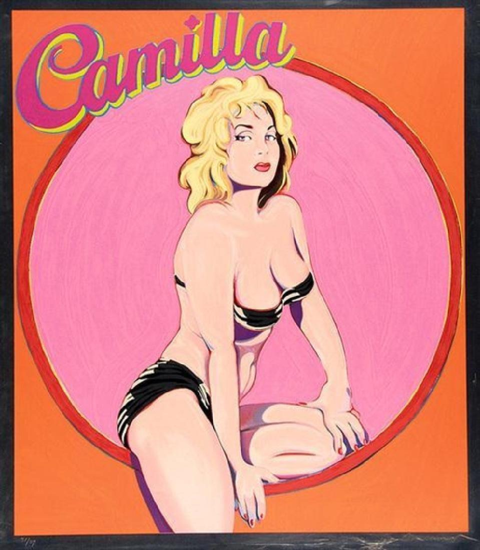 Mel Ramos - Camilla (Screenprint on Aluminum)