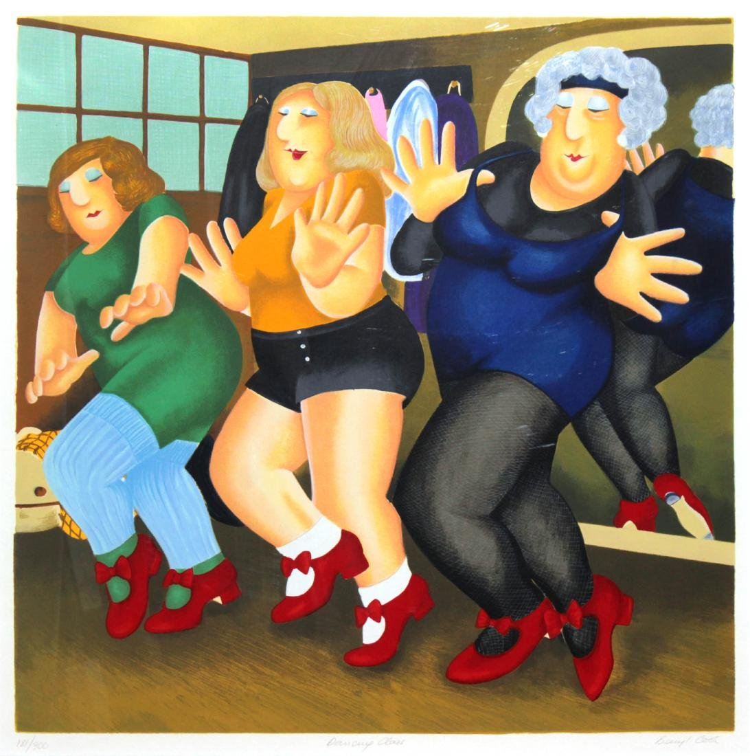 Beryl Cook - Dancing Class