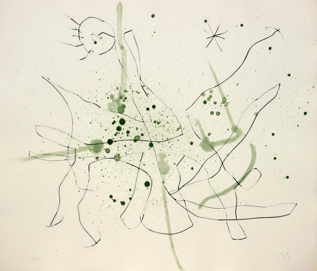 """Joan Miro - Untitled II from """"Flux de l'Aimant"""""""
