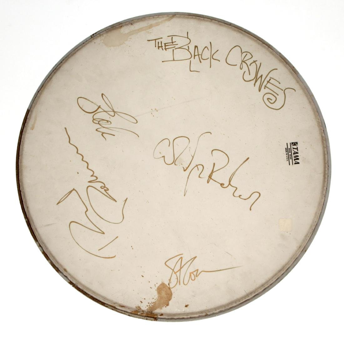 Black Crowes - Drum Head Hand Signed by the Black