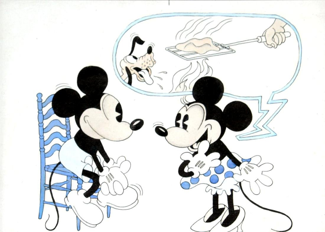Walt Disney - Original Mickey Mouse Drawing