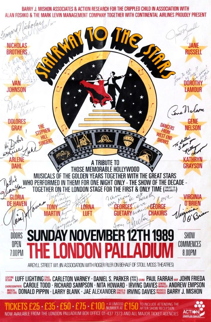 Stairway to the Stars - 1989 Hand Signed Poster