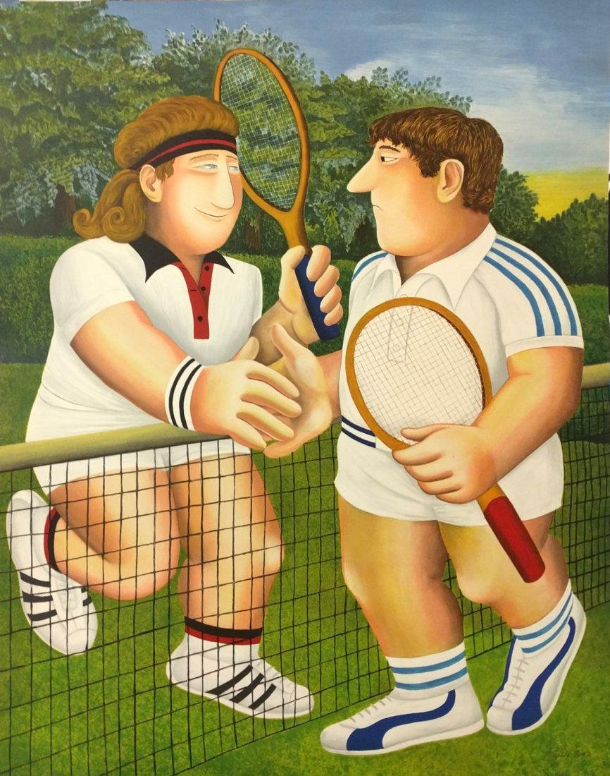 Beryl Cook - The Tennis Match