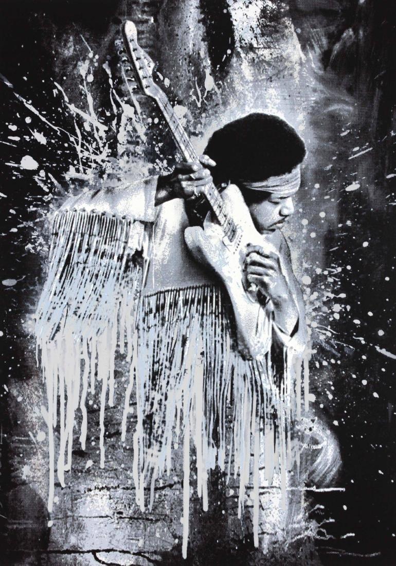 Hendrix (White) by Mr. Brainwash