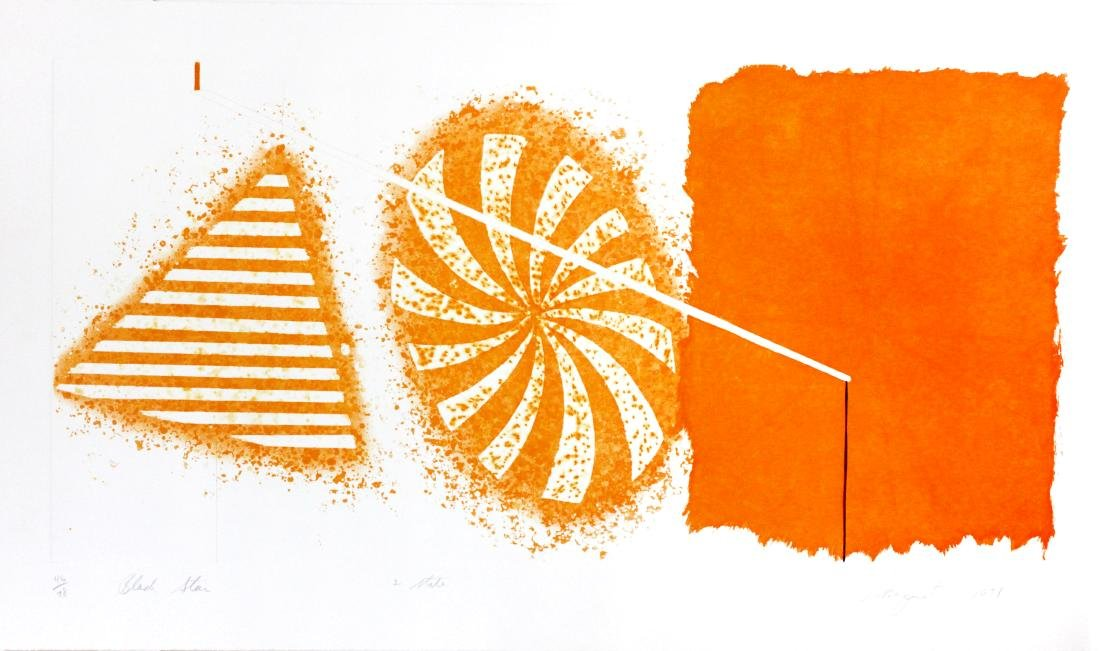 James Rosenquist - Black Star (Orange 2nd State)