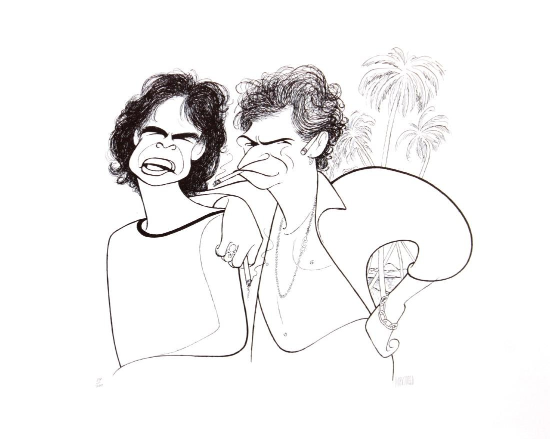 Al Hirschfeld - Mick Jagger and Keith Richards