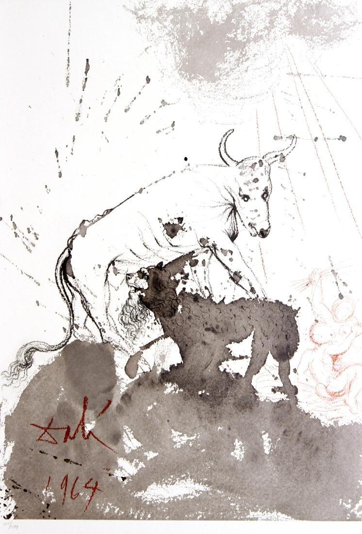 Salvador Dali -  Leo quasi bos comedens paleas