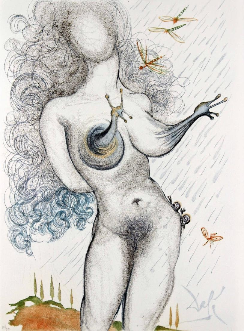 Salvador Dali - Nude with Snail Breasts