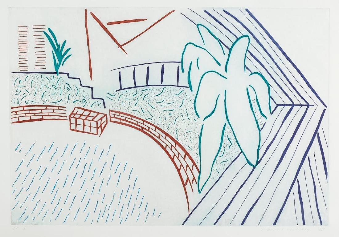 David Hockney - My Pool and Terrace