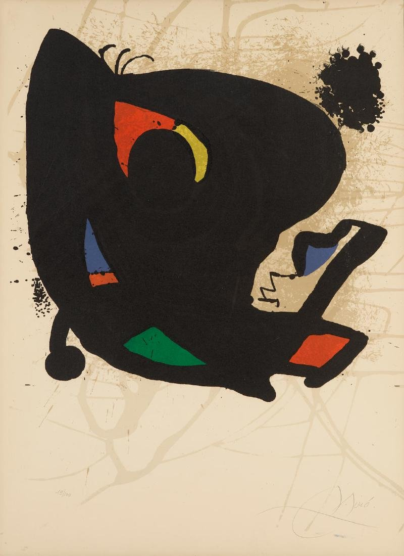 Joan Miro - Poster for Exhibition Miro L'ouevre