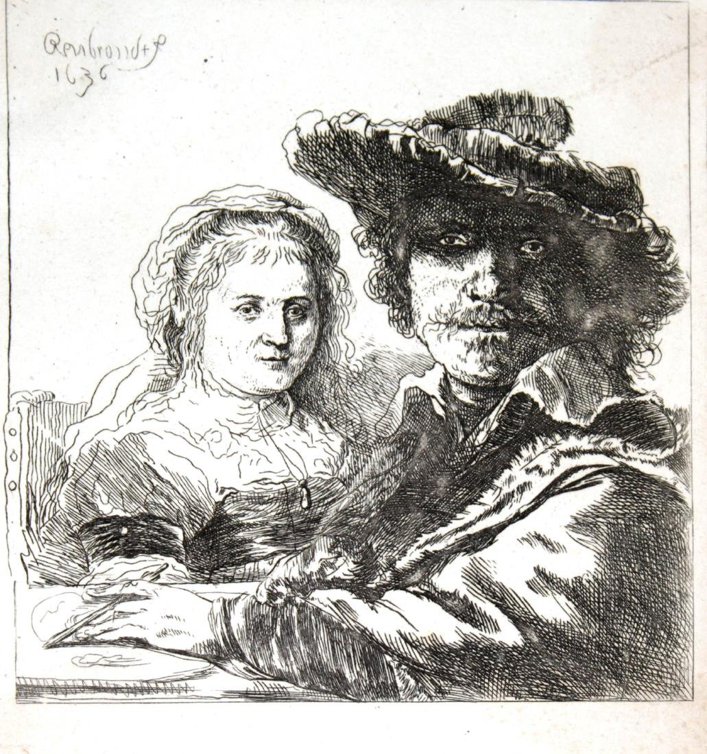 Rembrandt van Rijn - Self-Portrait with his wife Saskia