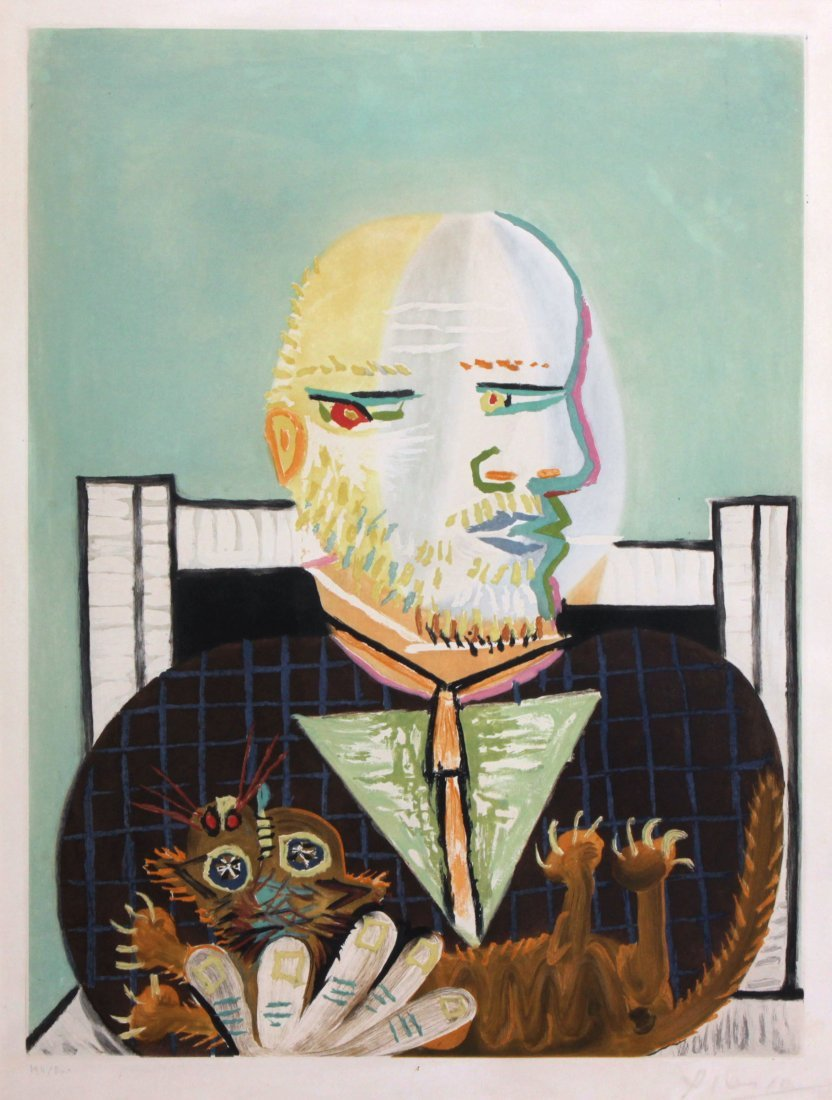Pablo Picasso - Vollard et Son Chat