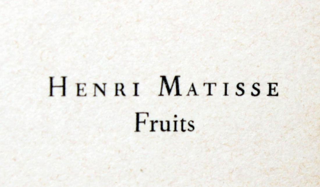 Henri Matisse - Fruits - 2