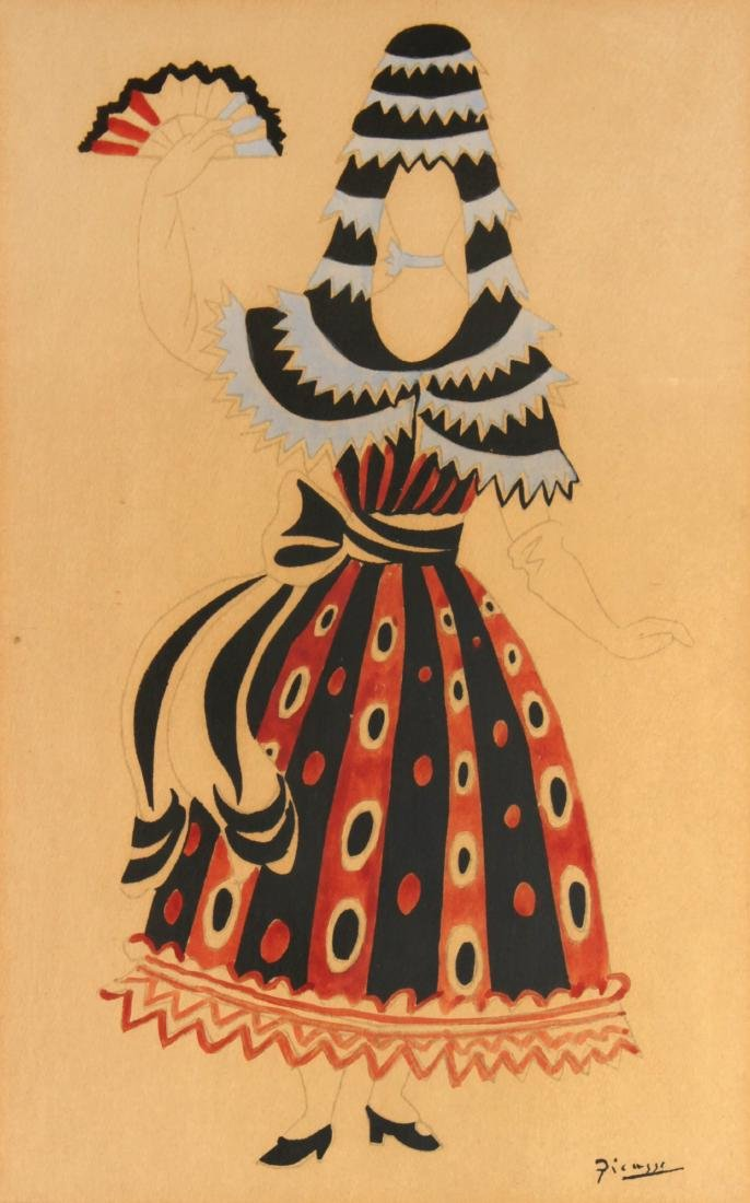 """Pablo Picasso - Untitled from """"El Sombrero de Tres"""