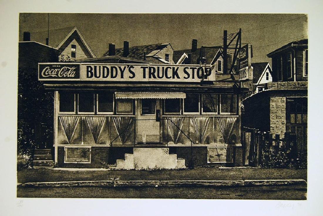 John Baeder - Buddy's Truckstop