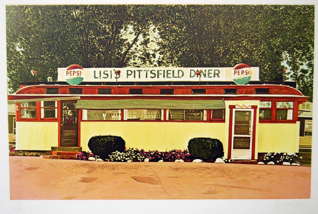 John Baeder - Lisi's Pittfield Diner