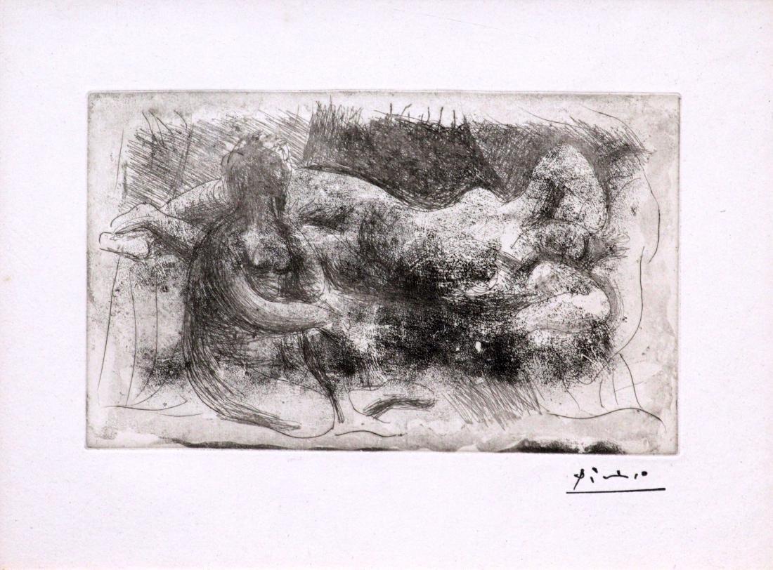 Pablo Picasso - Femme Veillant une Dormeuse