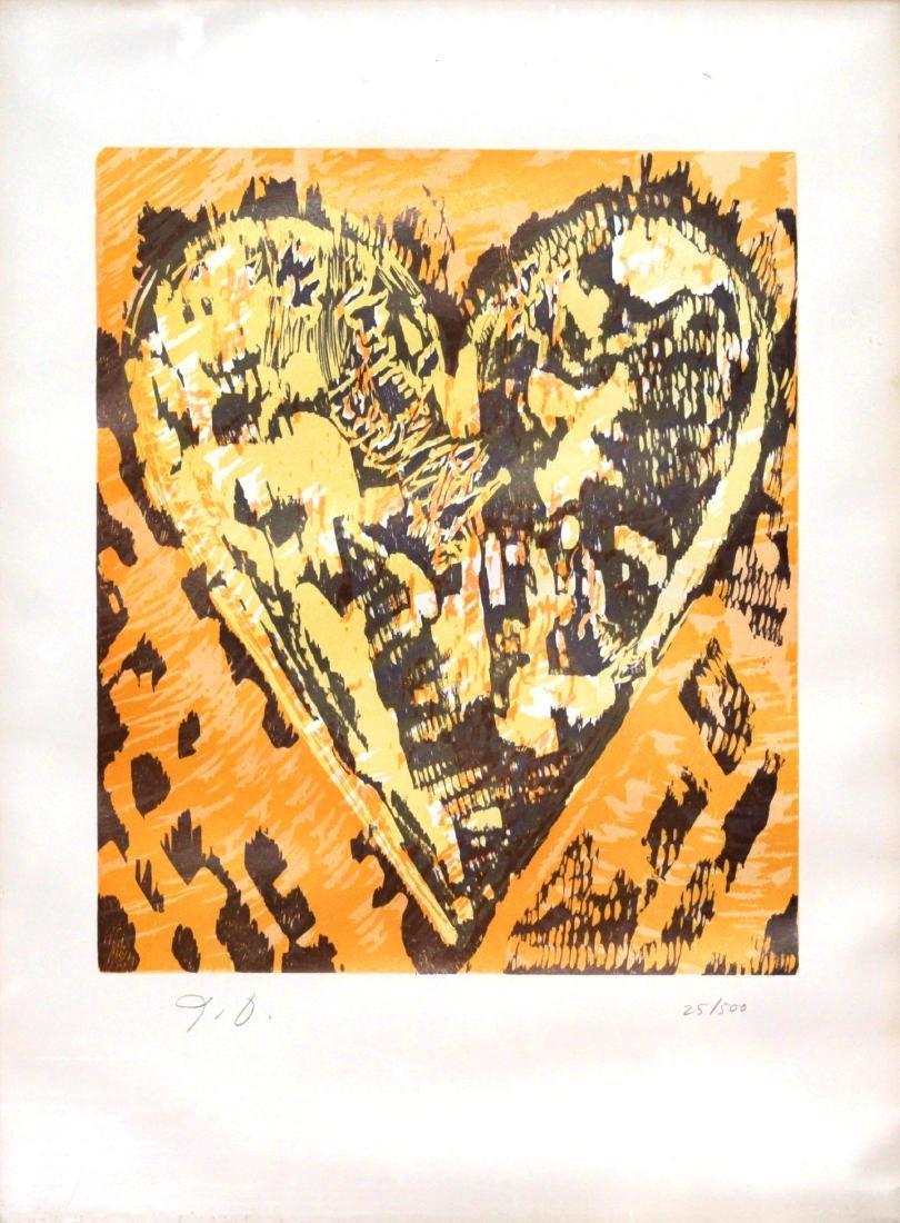 Jim Dine - Woodcut Heart