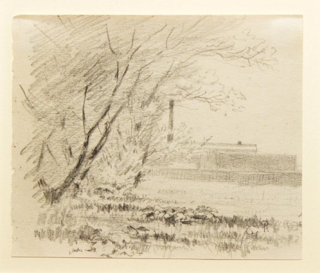 Camille Pissarro - Original Landscape Sketch