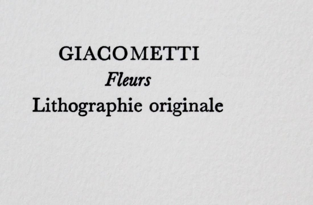 """Giacometti - """"Fleurs"""" from Souvenirs de Portraits - 2"""