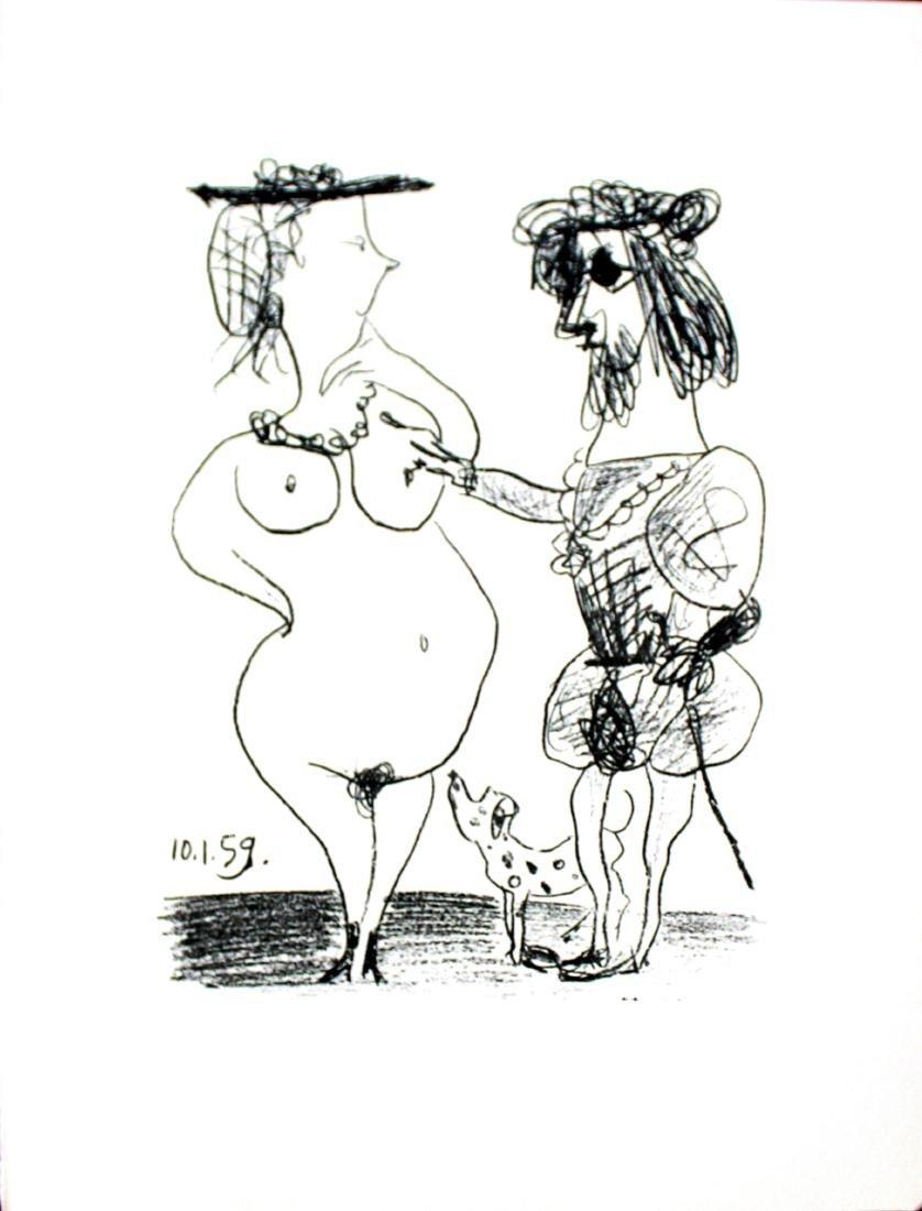 """Pablo Picasso - """"Le Seigneur et la Dame (M. 322)"""" from"""