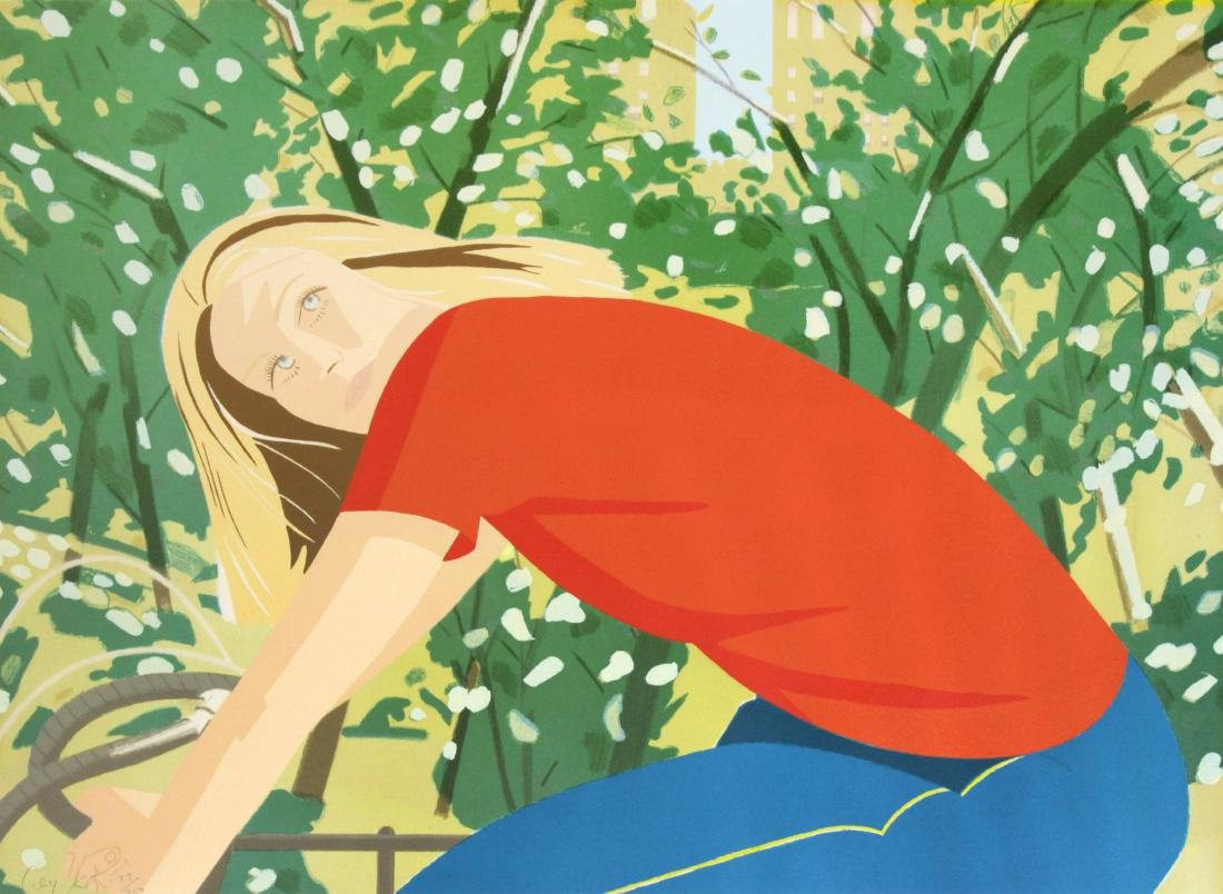 Bicycling in Central Park by Alex Katz