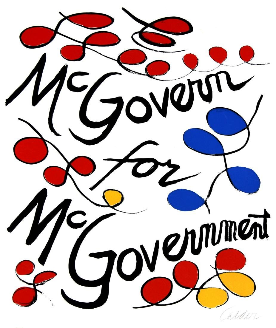 Alexander Calder - McGovern for McGovernment