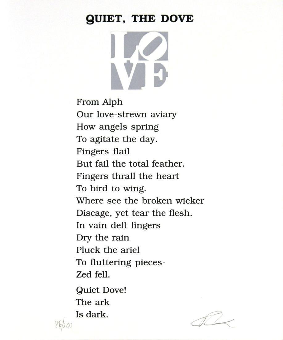 """Robert Indiana """"Quiet, The Dove"""""""