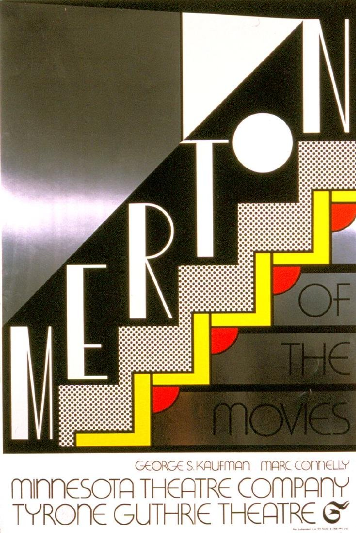 "Roy Lichtenstein ""Merton of the Movies"" Vintage Signed"