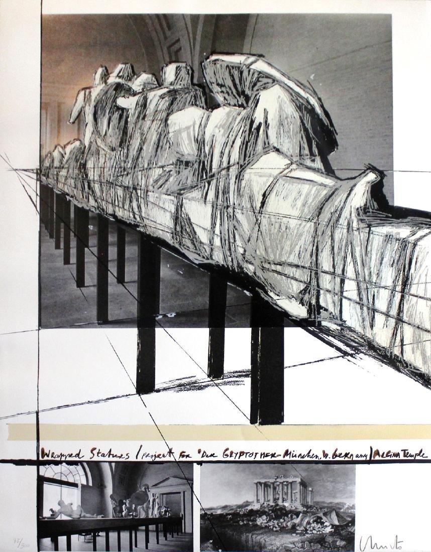 "Christo ""Wrapped Statues, the Glyptothek, Munich"""