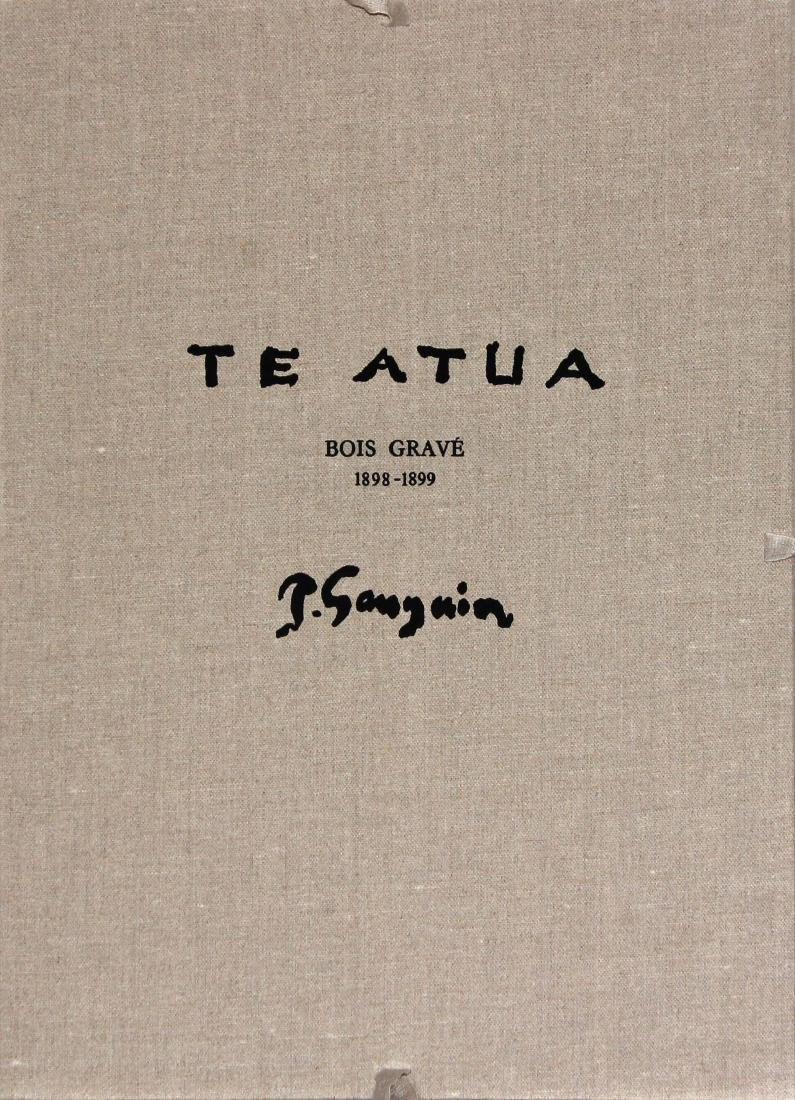 Te Atua Gauguin Woodcut in Original Canvas Porfolio by - 3