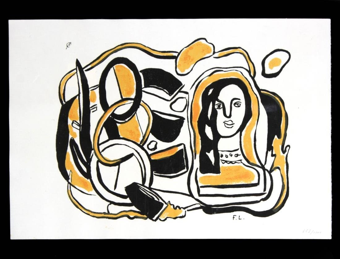 Fernand Leger - Composition in Black and Yellow