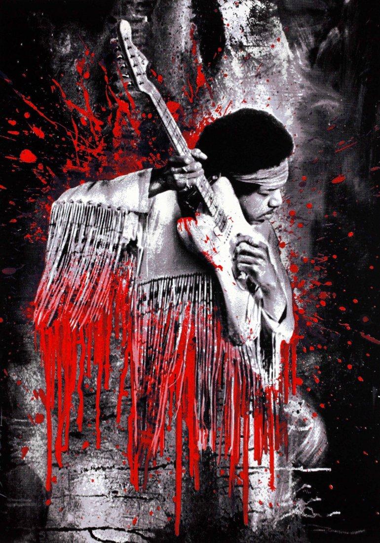 Hendrix (Red) by Mr. Brainwash