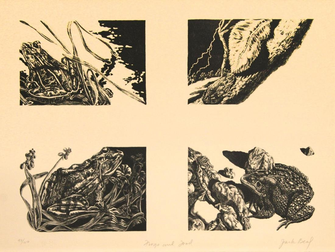 Jack Beal - Frogs and Toads