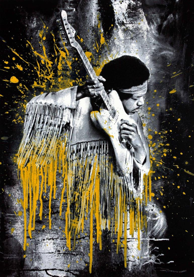 Hendrix (Gold) by Mr. Brainwash