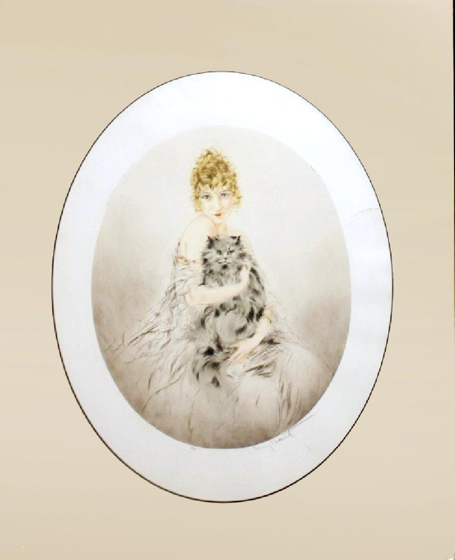 """Louis Icart """"Persian Cat"""""""